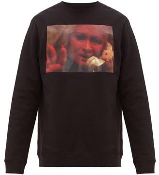 Raf Simons Picture Print Cotton Jersey Sweatshirt - Mens - Black