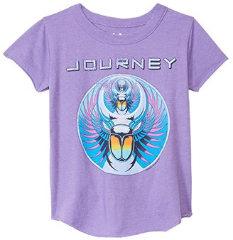 Chaser Recycled Vintage Jersey Short Sleeve Shirttail Crew Neck (Toddler/Little Kids) (Genie) Girl's Clothing