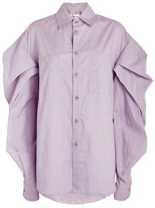 Natasha Zinko Pleated Cotton Shirt