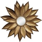 Home Decorators Collection 35.25 in. x 3.25 in. Petals Framed Wall Mirror in Gold