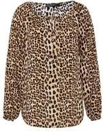 Hallhuber Raglan Blouse With Leopard Print