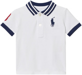 Ralph Lauren White and Navy Contrast Polo Shirt