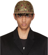Dolce & Gabbana Red & Gold Brocade Cap