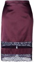 Givenchy lace panel pencil skirt - women - Acetate/Silk/Polyamide - 38