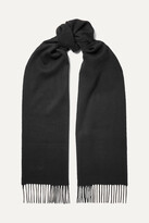 Thumbnail for your product : Johnstons of Elgin Fringed Cashmere Scarf - Black