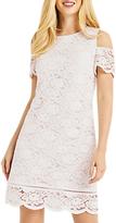 Oasis Cold Shoulder Lace Dress, White