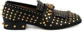 Gucci studded fringe loafer - men - metal/Leather - 6.5