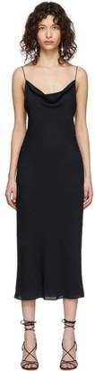 Kiki de Montparnasse Navy Silk Simple Slip Dress