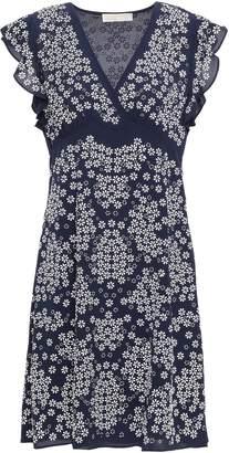 MICHAEL Michael Kors Floral-appliqued Crepe Dress