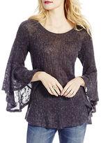 Jessica Simpson Hyne Sheer Bell Sleeve Sweater