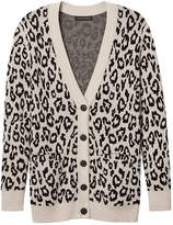 Banana Republic Italian Superloft Leopard-Print Long Cardigan