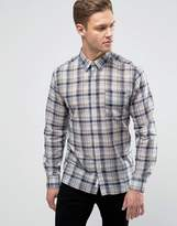 Bellfield Lightweight Checked Shirt In Regular Fit