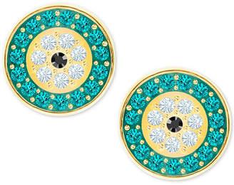 Swarovski Gold-Tone Multi-Pave Evil Eye Stud Earrings