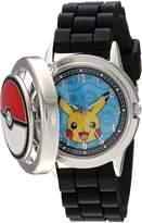 Pokemon Men's Quartz Metal and Silicone Casual Watch, Color:Black (Model: pok9025)