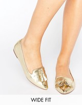 Asos LEO Wide Fit Ballet Flats