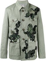 Antonio Marras patched buttoned coat - men - Cotton/Spandex/Elastane - 48