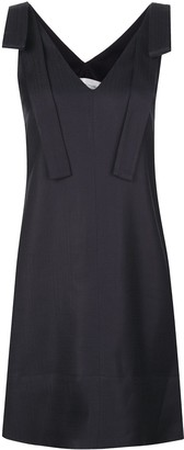Victoria Victoria Beckham V-neck shoulder strap shift dress