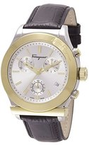 Salvatore Ferragamo Men's FF3870015 1898 Analog Display Quartz Black Watch