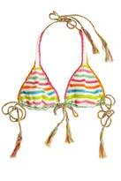 Anna Kosturova Crochet String Bikini Top