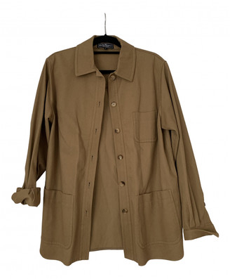 Salvatore Ferragamo Camel Cotton Jackets