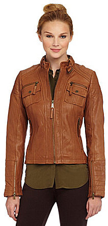 MICHAEL Michael Kors Leather Scuba Jacket