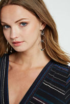 BCBGeneration Tiered Drop Earrings - Silver