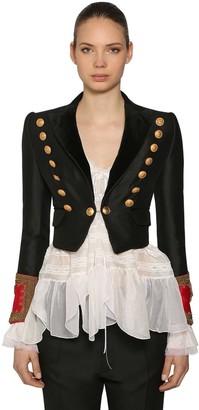 DSQUARED2 Wool & Silk Bolero Jacket