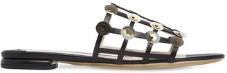 Ernesto Esposito 10mm Cage Leather Slide Sandals