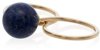 Lapis Asherali Knopfer Daliagreen 18K gold mix and match pearl and ring