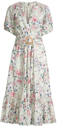 Shoshanna Caricia Floral Midi Dress