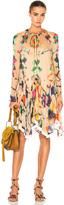 Chloé Technicolor Ink Blot Print Dress