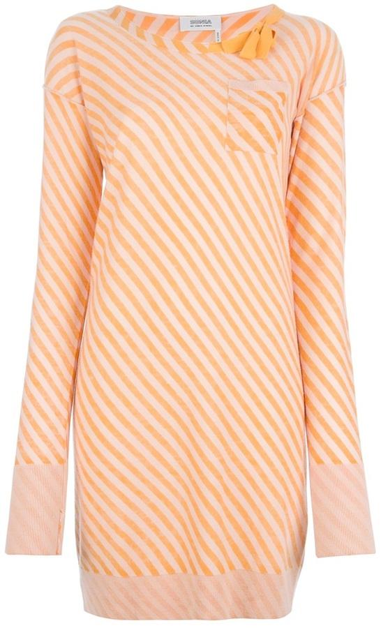 Sonia Rykiel Sonia By striped shift dress