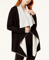 Bar III Reversible Draped Cardigan, Created for Macy's