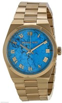 Michael Kors Channing MK5894 Gold-Tone Stainless Steel Turquoise Dial 38mm Watch
