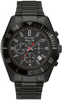 Bulova men's ion plated chronograph bracelet watch