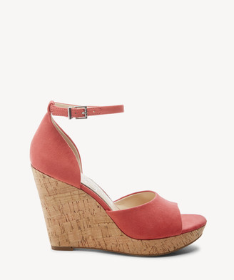 Jessica Simpson Women's Jarella Platform Wedges Sandals Hibiscus Size 5 Leather From Sole Society