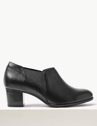 M&S CollectionMarks and Spencer Wide Fit Leather Chelsea Loafers
