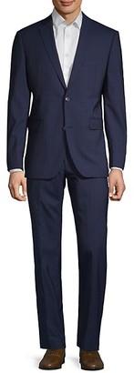 Saks Fifth Avenue Striped Wool Suit