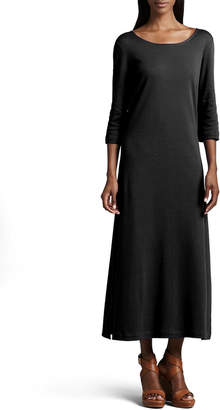 Joan Vass Petite Interlock Easy Maxi Dress