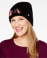 INC International Concepts Floral Embroidered Beanie, Created for Macy's