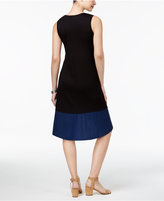 Style&Co. Style & Co Petite Colorblocked High-Low Dress, Created for Macy's
