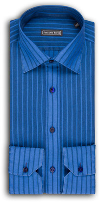 Stefano Ricci Men's Thick-Striped Dress Shirt