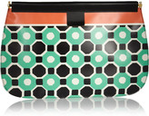 Marni Printed PVC and leather clutch