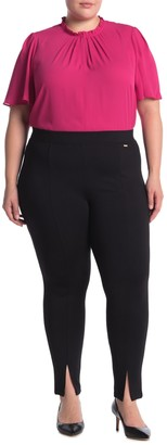 T Tahari Solid Pull-On Stretch Ponte Pants (Plus Size)