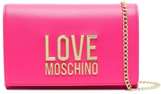 Love Moschino Logo Plaque Chain Strap Crossbody Bag