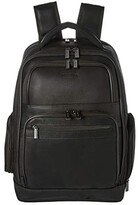 Kenneth Cole Reaction Colombian Leather 15.6 RFID Computer Backpack (Brown) Backpack Bags