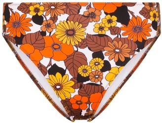 Dodo Bar Or Morgan floral print high-waisted bikini bottoms