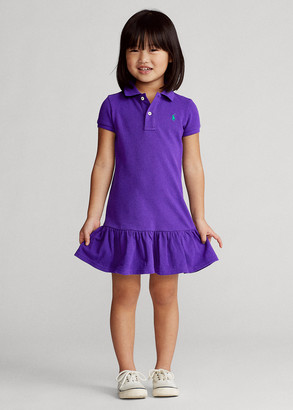 Ralph Lauren Cotton Mesh Polo Dress
