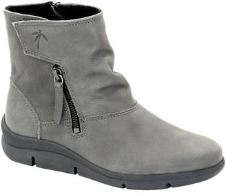 Dromedaris Side-Zip Leather Short Boots- Vida