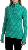 Eddie Bauer Chevron Shirt - Zip Neck, Long Sleeve (For Women)